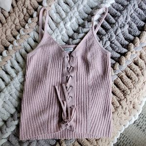 American Eagle Outfitters Pink Knit Tank XS